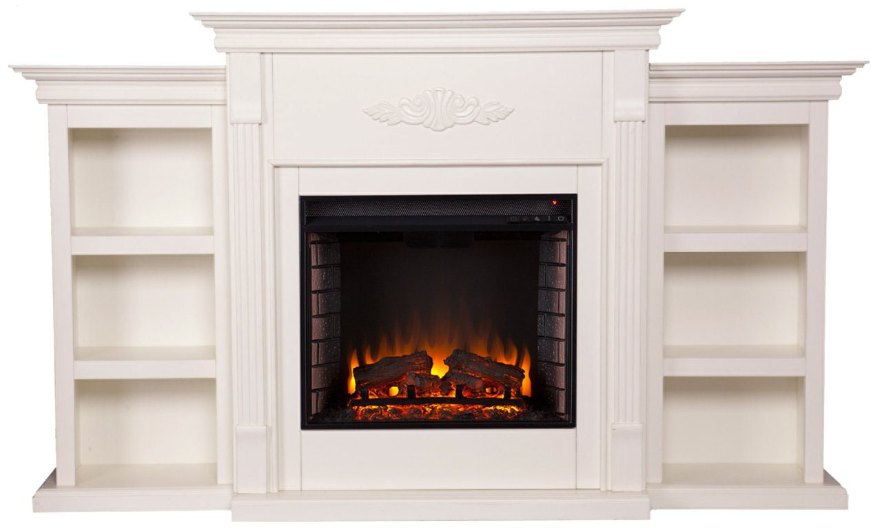 Tennyson Electric Fireplace w/ Bookcases - Best Electric ...